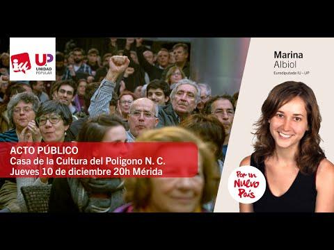 Video del Acto de Campaña: Intervención de Marina Albiol