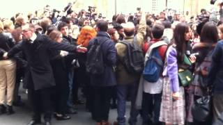 Modepilot: Dior Zaungast Reportage: Antoine Arnault arrives