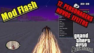 Como Instalar Mod  The Flash GTA SA (MELHOR JÁ LANÇADO COM NOVOS EFEITOS E PERSONAGENS) 2018