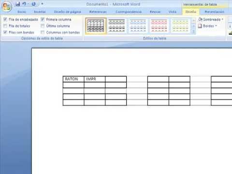 Como hacer una tabla y una sopa de letras en word youtube urtaz Gallery