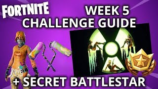 WEEK 5 BLOCKBUSTER REGULAR & PRESTIGE CHALLENGE GUIDE & SECRET BATTLE STAR // Fortnite Season 10