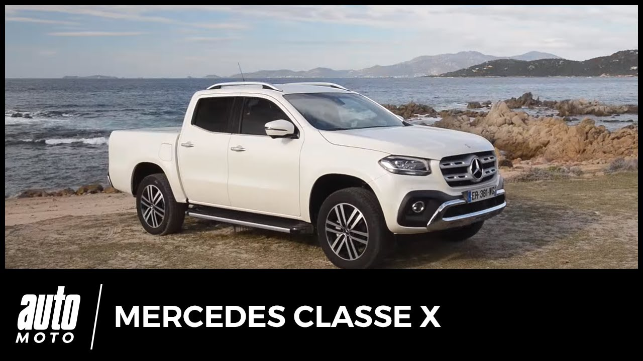 mercedes classe x 2018 un pick up qui vaut la benne essai technique tarif youtube. Black Bedroom Furniture Sets. Home Design Ideas