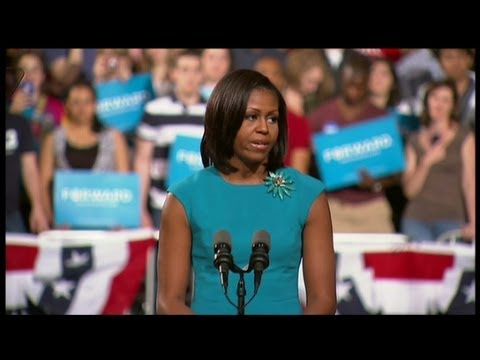 Obamas hold campaign kick-off  rally in Columbus, Ohio