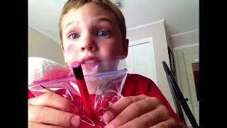 pencils through the bag magic trick!!!😀