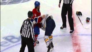 Brandon Prust works Steve Ott like a clown