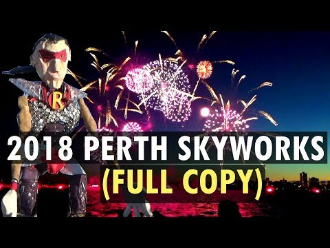 2018 Australia Day Perth Skyworks (Full Fireworks + Narration + Music)