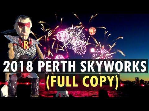 2018 Australia Day Perth Skyworks (Full Fireworks + Narration + Music)