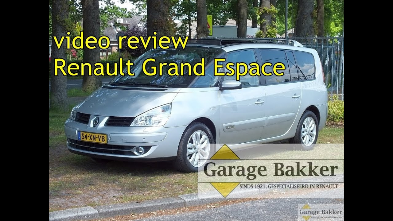Video review renault grand espace 2 0 t 170 aut privil ge for Grand garage feray renault