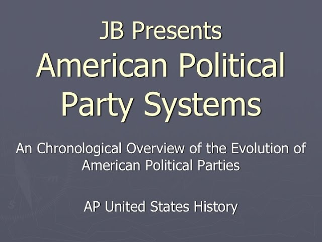 evolution of american political party s Changes in voting qualifications and participation, the election of andrew jackson, and the formation of the democratic party—due largely to the organizational skills of martin van buren—all contributed to making.