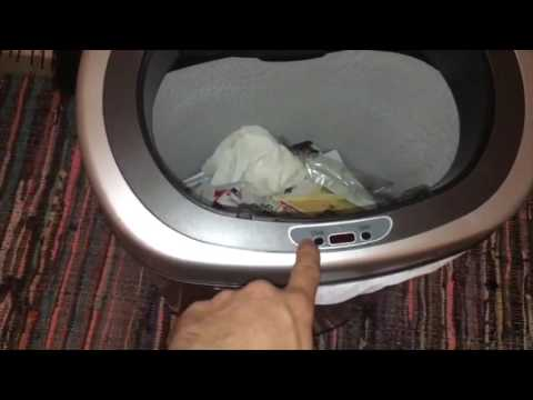 Nine Stars Trash Can - DZT-50-9 Infrared Touchless Stainless Steel (Review & Demo)