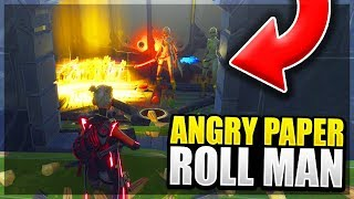 Very Angry Paper Roll Man Scams Himself! (Scammer Get Scammed) Fortnite Save The World