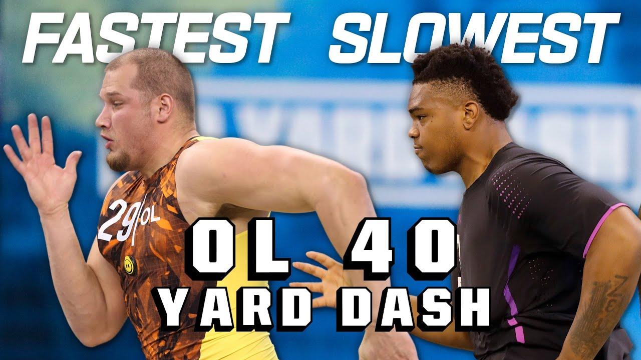 Slowest & Fastest OL 40-Yard Dash Times Since 2010!