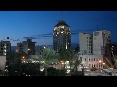 Droning Downtown Fresno In 4K
