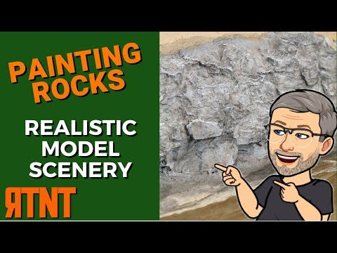 Model Scenery – Painting Rocks
