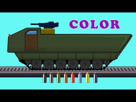 Thumbnail: Kids TV Channel | Armored Motorized | Learn Colors with Vehicles | Coloring Videos For Kids