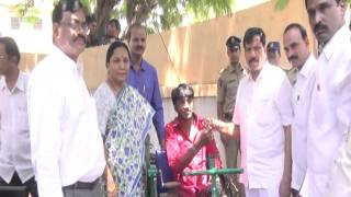 Chaman Saab ZP Chairman Distribute Tricycle To Public In ZP/Anantapur 5-4-16