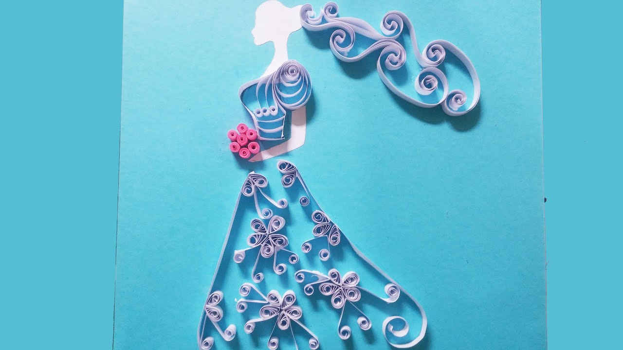 Quilling Made Easy How To Make Pretty Bride Using Paper You