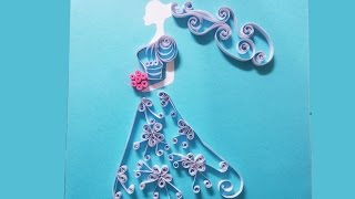 Quilling Made Easy ||  How to make Pretty Bride using paper Quilling.