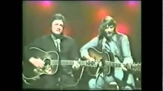 Waylon Jennings And Johnny Cash- I Wish I Was Crazy Again (Live) YouTube Videos