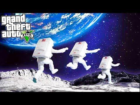 GTA 5 SPACE MOD TO THE MOON!! Space Ship, Moon Landing & More! GTA 5 Mod
