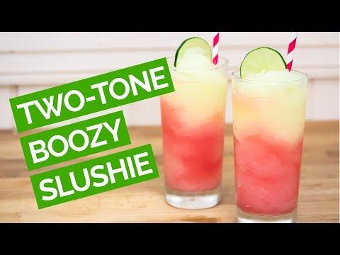 Watermelon Lemonade Slushie With Vodka