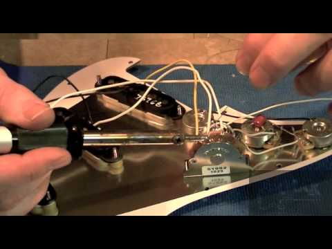 How To Wire A Fender Stratocaster - Installing Pickups To Switch