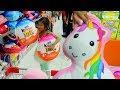 Hana Bantu Mama Belanja Mingguan dikasih Hadiah Boneka Unicorn & ada Kinder Joy Besar | Anak Rajin