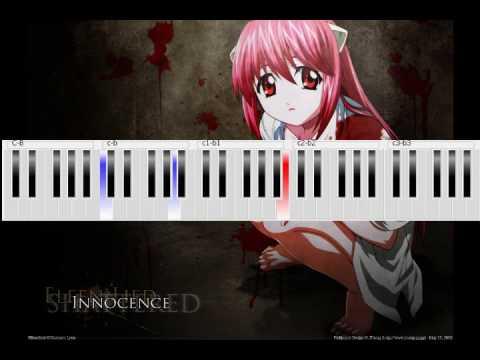 Elfen Lied - Lilium Piano Tutorial