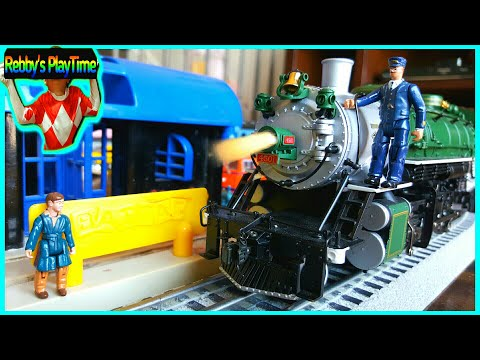 Cool Toy Trains With The Real Train Cars. Funny Polar Express Electric Steam Train Videos For Kids.