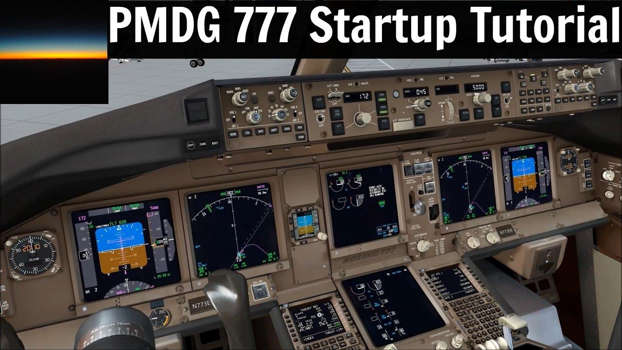 fsx] Pmdg 777 Startup Tutorial | Readable