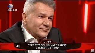 40 de intrebari cu Denise Rifai - Dan Bittman in lacrimi! Care este cea mai mare durere a artistului