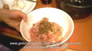 How To Make Chicken With Garlic And Black Pepper