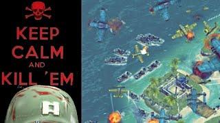Battle Islands Online Game Play MAK5DESTROY (blue) vs UNSKINABLE1 (green)