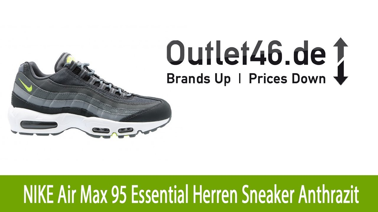 new style ac824 61594 Cooler NIKE Air Max 95 Essential Herren Sneaker Anthrazit l Outlet46.de