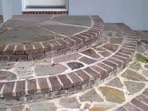 Brick Circular Steps And Path Youtube