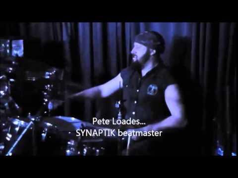 """SYNAPTIK """"A MAN DIES"""" - cut - PETE LOADES DRUM SHORT VIDEO LIVE"""