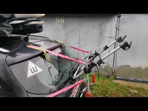 Багажник Amos Weekend для велосипедов, на заднюю дверь. Перевозка великов на машине.