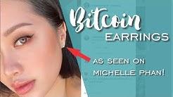 Bitcoin Earrings - How we make our Bitcoin earrings, As seen on Michelle Phan!