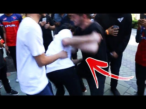 CRAZY FAN TACKLES ME IN PUBLIC! (wtf) | FaZe Rug