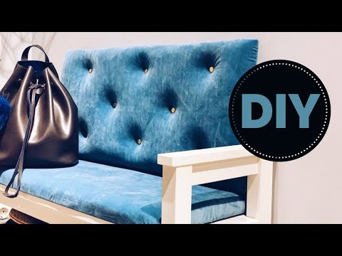 DIY Переделка прихожей. Мягкая спинка и сиденье для скамейке в прихожей