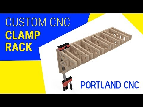 Fusion 360 Designed and Optimized CNC Routed Clamp Rack