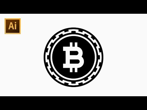 How To Draw Bitcoin Icon - Adobe Illustrator