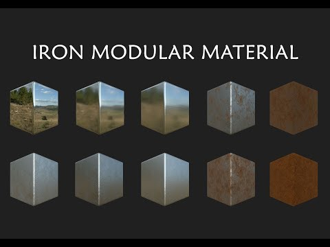 Iron with Rust Modular Material - Substance Designer