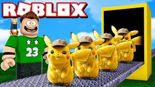OUR OWN MANUFACTURE OF DETECTIVE PIKACHU in ROBLOX !