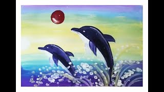 Как нарисовать дельфина. Видео урок рисования для детей 4-8 лет
