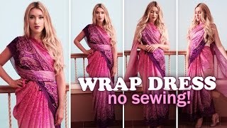Summer wrap dresses without sewing ★ How to drape a saree