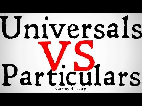 Universals vs Particulars (Metaphysical Distinction)