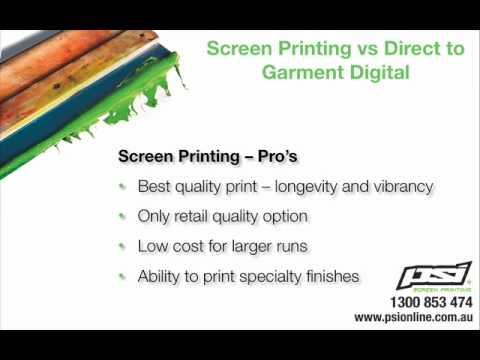 T-shirt Printing - Screen Printing vs Digital Printing