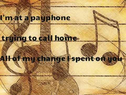 kraoke payphone ( guitar)
