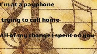 karaoke Payphone - Maroon 5 ( guitar ) + lyrsic